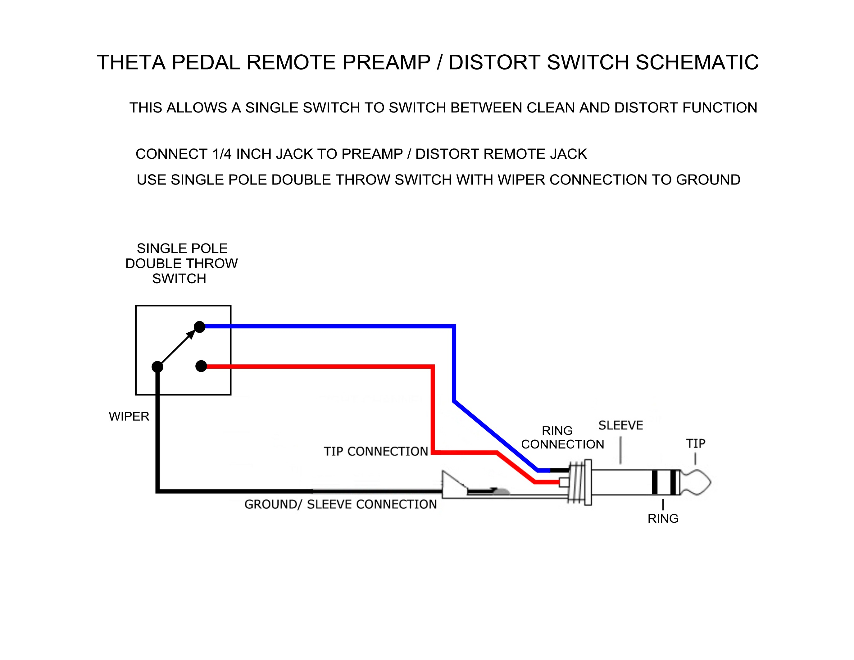 THETA PEDAL REMOTE SWITCH SCHEMATIC