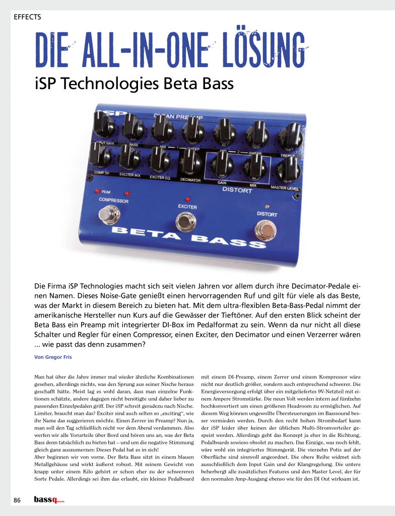 Beta Bass in Bass Quarterly-1